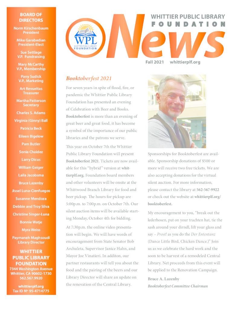 thumbnail of Fall 2021 Newsletter